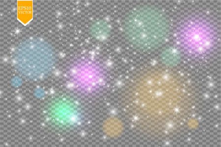 Glowing magical wave of glitter star. Graphic concept for your design. Vector