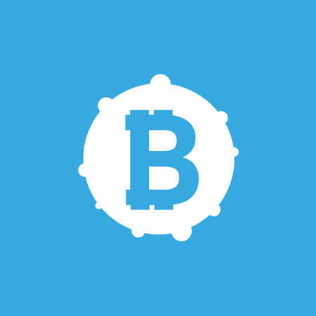 Bitcoin sign icon for internet money. Crypto currency symbol and coin image for using in web projects or mobile applications.