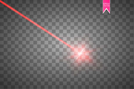 Abstract red laser beam vector illustration Ilustração