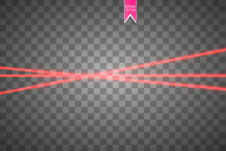 Abstract red laser beam vector illustration  イラスト・ベクター素材