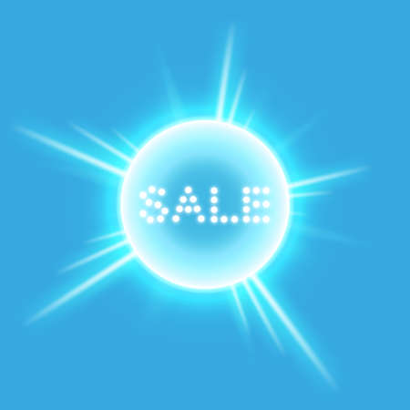 Sale glowing neon sign on the transparent background. Light vector background for your advertise, discounts and business Illustration