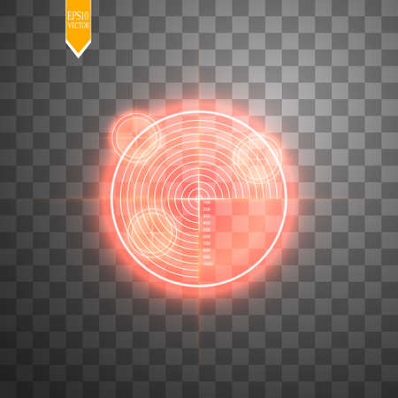 Neon Target isolated. Game Interface Element. Vector illustration 일러스트