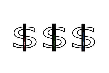 Flat design. Business concept. Vector illustration. Dollar progress loading bar with lighting. Flat design Imagens - 114820774