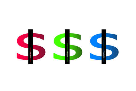 Business concept illustration. Dollar progress loading bar with lighting