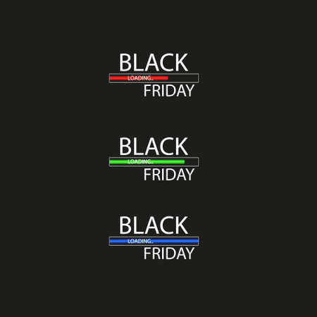 Black Friday with Loading Bar . Black Friday Sale Concept