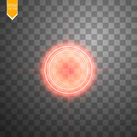 Neon Target isolated. Game Interface Element. Vector Vektorové ilustrace