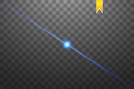 Shape, Single Line, Light Beam Spotlight Star Vector