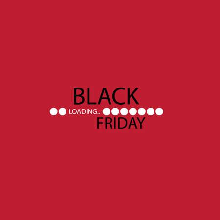 Black friday. Progress loading bar. Vector illustration eps