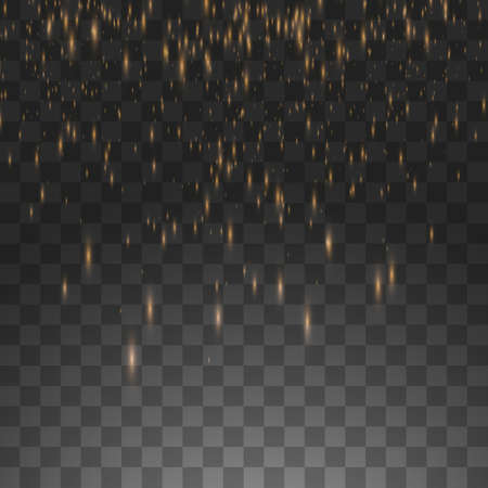 Vector illustration rain isolated on a transparent background.