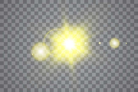 Vector transparent sunlight special lens flare light effect. Sun isolated on transparent background. Glow light effect Stok Fotoğraf - 127276532