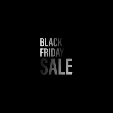 Black Friday Sale on dark background. For  banners, labels, badges, prints, posters, web. Vector illustration. Çizim