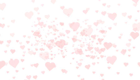 Heart confetti falling down isolated. Valentines day concept. Heart shapes overlay background. Vector festive illustration. Vector. Valentines Day background