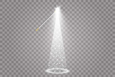 Illumination Lights Shiny Christmas tree Isolated on Transparent Background. White tree as symbol of Happy New Year, Merry Christmas holiday celebration. Bright light decoration design. Vector 向量圖像