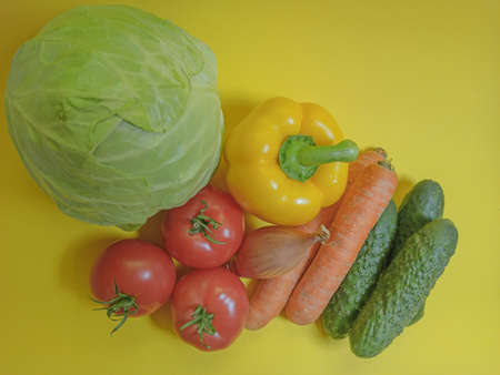 Vegetables in a natural textile bag, healthy food, saving the planet.