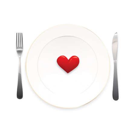 Heart plate Illustration