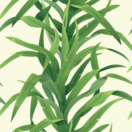 Grass seamless background Illustration