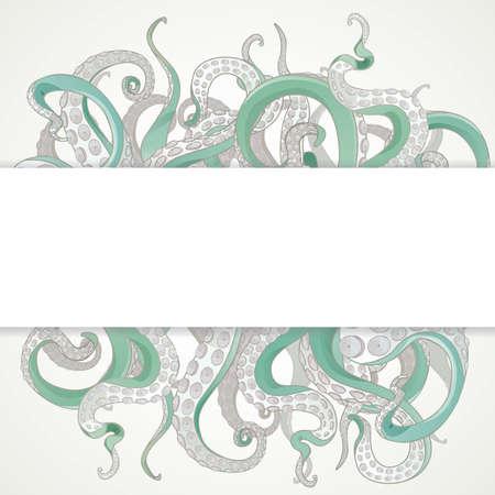 calamar: Tent�culos bandera