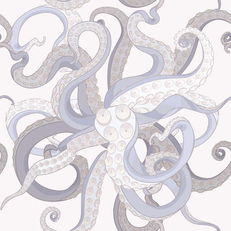 Tentacles seamless background