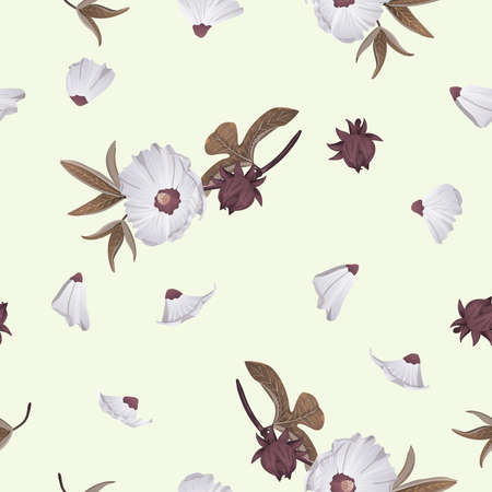 Roselle seamless background