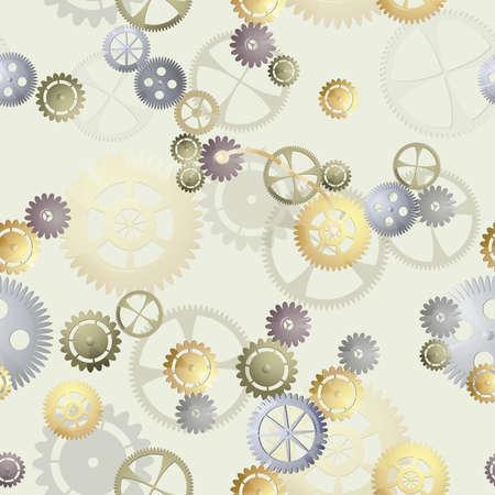 Сogwheel seamless background Illustration