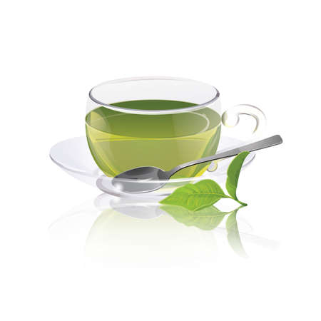 green glasses: Cup of green tea