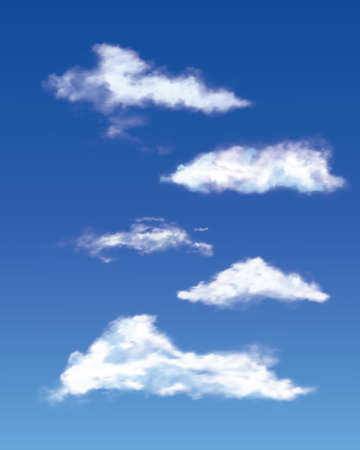 Different realistic clouds set