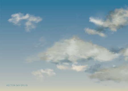 Evening vector sky. EPS 10