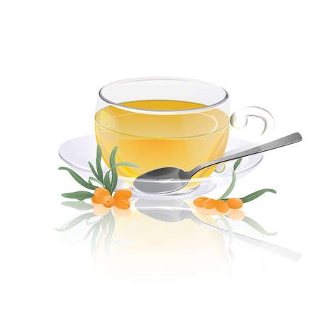 Cup of sea-buckthorn tea