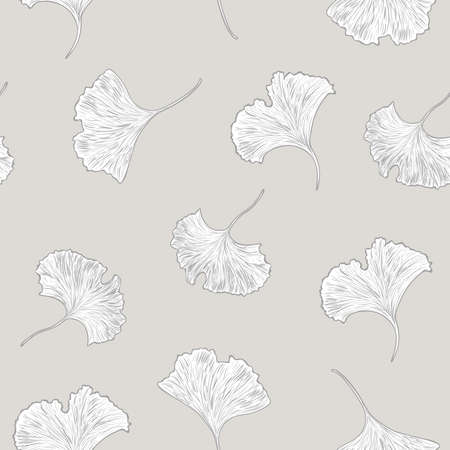 gingko: Gingko biloba seamless background Illustration