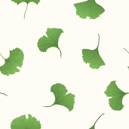 Gingko biloba seamless background Illustration