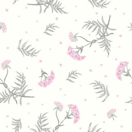 valerian: Valerian (Valeriana officinalis) seamless background