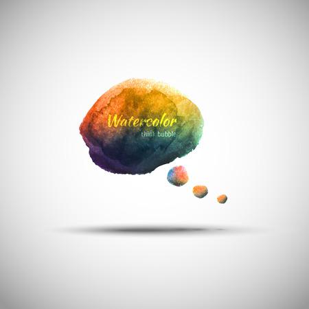 Watercolor think bubble Ilustração