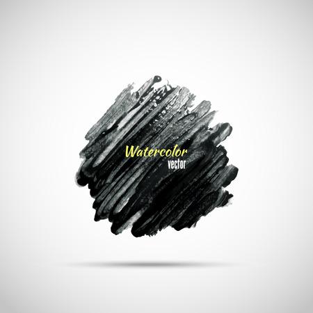 塗料の黒のストローク  イラスト・ベクター素材