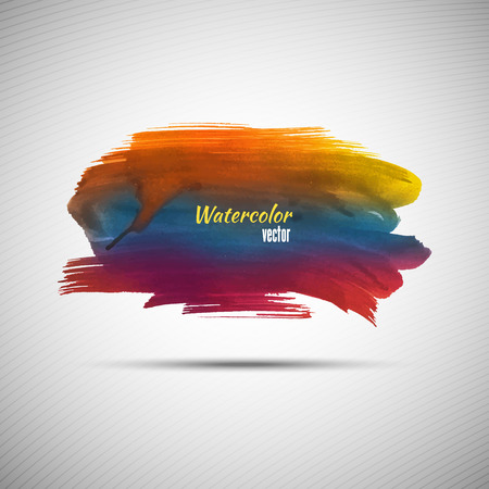 watercolor smear: Watercolor grunge background for your design Illustration