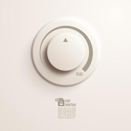 Vector volume music control  volume knob. Vector Illustration EPS10