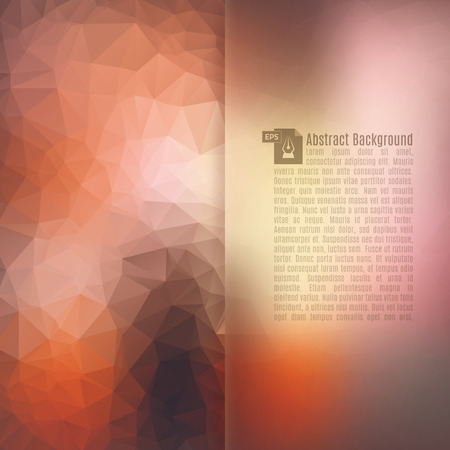 obscure: Abstract Triangle Geometrical Background. Vector Illustration EPS10. Illustration