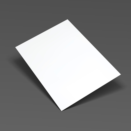 one sheet: Empty white paper sheet. Vector Illustration EPS10.