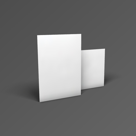 paper sheets: Empty paper sheets. Illustration