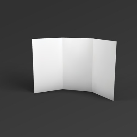 assign: Blank trifold paper brochure.