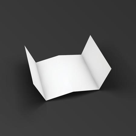 dl: Zigzag leaflet folded on four parts.