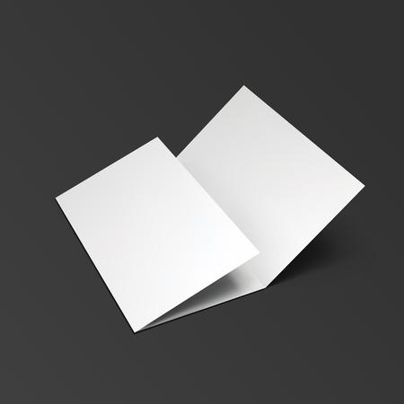 空白の 3 つ折り紙のパンフレット。  イラスト・ベクター素材