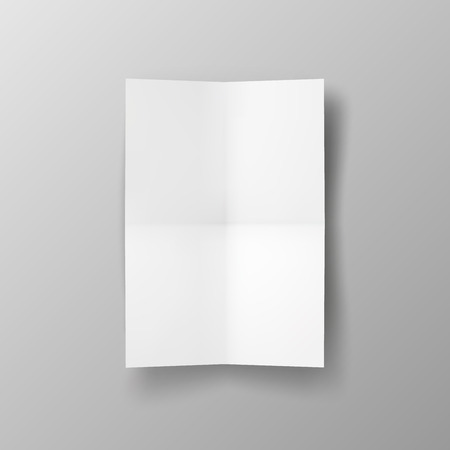 paper fold: Two times folded poster. Illustration