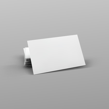 blank business card: Stack of blank business card.