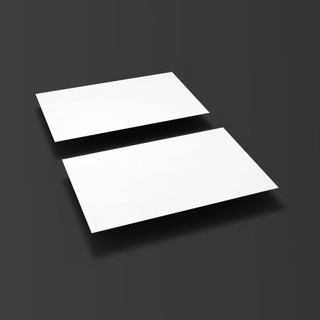 Blank business cards.