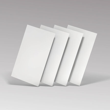 stack of documents: Blank business cards.