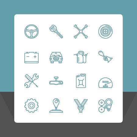 spare parts: Car service icons set.