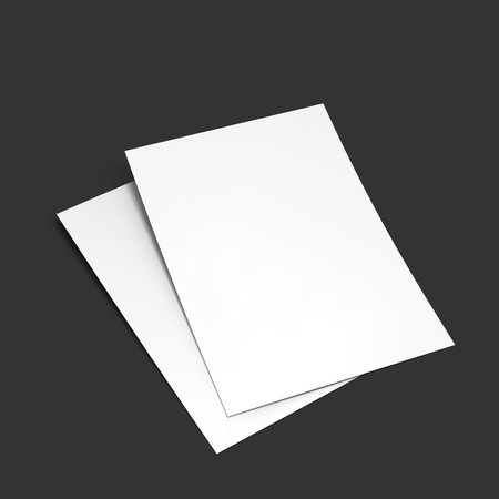 leaflet: Magazine, booklet, postcard, flyer, business card or brochure mockup template.