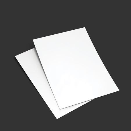 postcard: Magazine, booklet, postcard, flyer, business card or brochure mockup template.