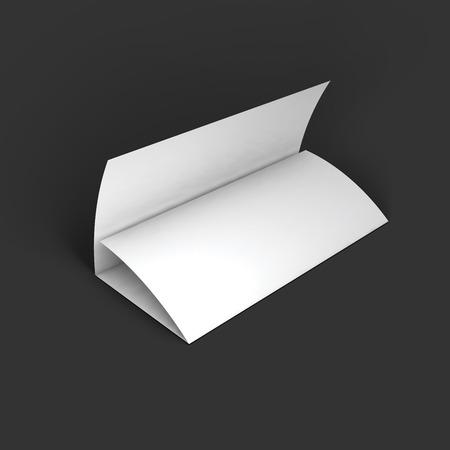 Blank trifold paper brochure mockup template. Ilustração