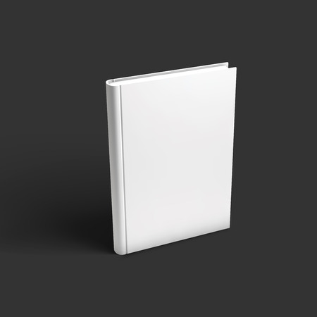 standing: Blank book, textbook, booklet or notebook mockup. Illustration